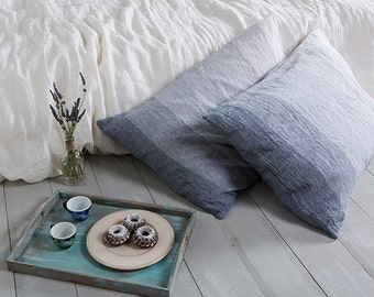 Linen pillow cases-Set of two linen pillow cases-Stone washed pillow shams-Linen bedding-Available in any sizes.
