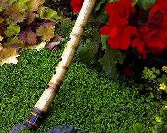Blackbird Sun Hotchiku Shakuhachi 1.7 Eb Madake Rootend Japanese Bamboo Flute
