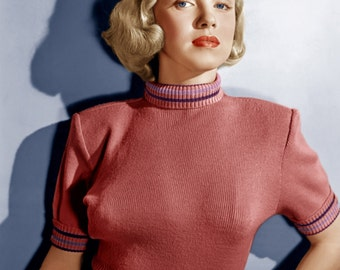 Marilyn Monroe Tight Sweater Color Poster Art Photo Artwork 11x14 or 16x20