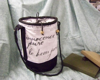 Vintage repop bag ( french script )