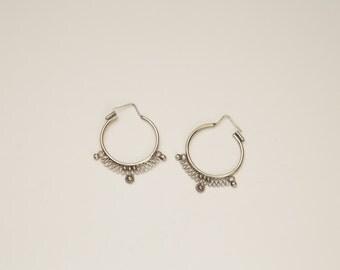 Silver gipsy earings