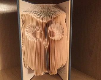 OWL Book Art - Teacher Gift - Book Lover - Home Decor - Book Shelf Accent - Book Fold
