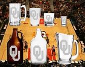 Oklahoma - Beer Mug - Pint Glass - Growler - Etched