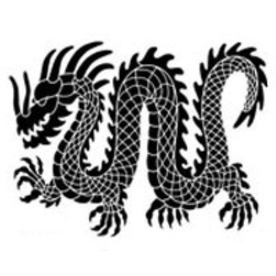 Drawing Lines In Dreamweaver : Dragon steel embossing stencilling template by dreamweaver