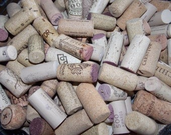 50 WINE CORKS USED  Naturals  Craft Supply. Perfect for Craft Proyects.