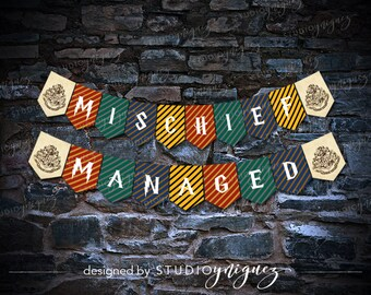 Harry Potter Printable Mischief Managed Banner