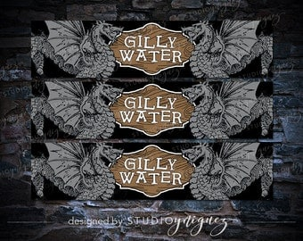Harry Potter Gilly Water Printable Water Bottle Labels