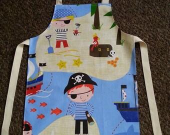 Child's Wipeable Pirate Oil Cloth Apron