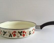 Vintage 1960's Sheffield Strawberries n Cream cooking pan