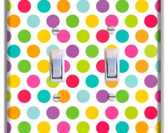 Light Switch Cover Polka Dots Decor Kid Room Nursery Decor Baby Boy Girl Nursery Decoration