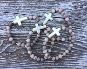 Sunday Funday Cross stretch bracelet