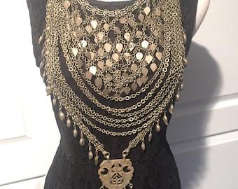 Kuchi Neacklace-Kuchi Jewellery-Old Necklace-Nomadic-Middle Eastern-bohemian hippy Jewellery gypsy Nomad Jewellery Kuchi Pendant...