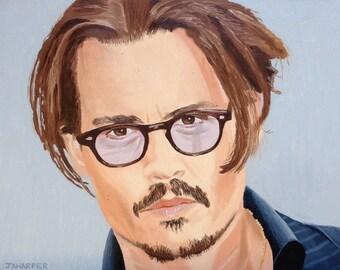 Johnny Depp - original oil painting 18x14