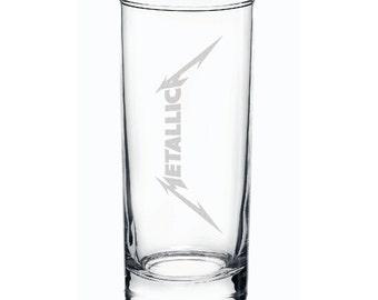 Metallica Highball Engraved Glass