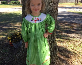 Elf smocked dress