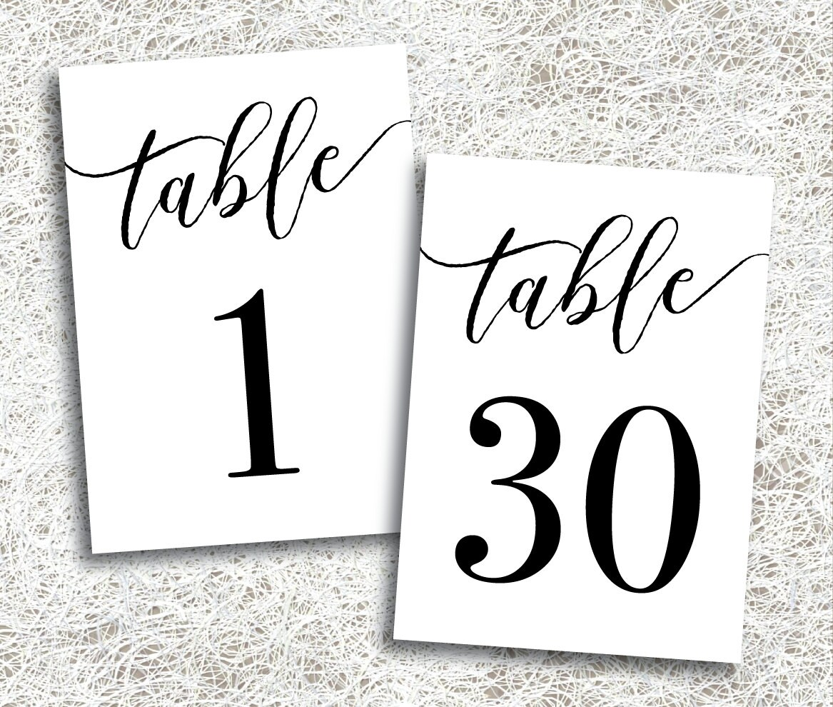 This is a picture of Genius Free Printable Table Numbers 1 30
