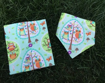 Bandanna Bib and Burp Cloth Gift Set