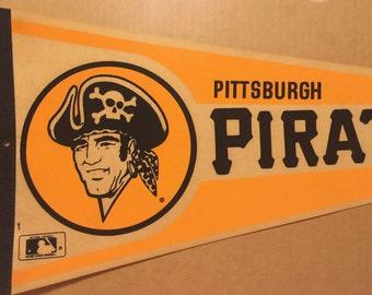 Vintage 1970's Pittsburgh Pirates Baseball Pennant MLB