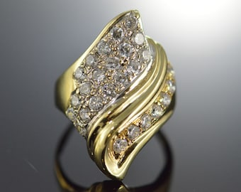 18K 2.5 CTW Cubic Zirconia Pave Ring - Size 9.75 / Yellow Gold - EL9568