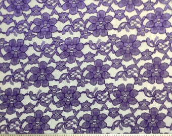 Raschel Polyester Lace Fabric By The Yard