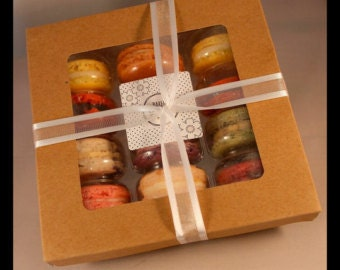 "Homemade fresh Macaroon ""Fruity Selection"" Gift Box (12 macarons) GLUTEN FREE"