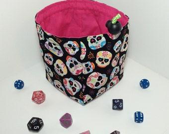 Día de los muertos/Day of the Dead reversible dice bag