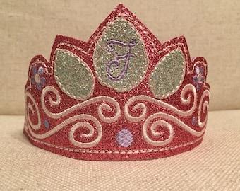 Glitter Princess Crown - Pretend Play Crown - Dress Up Crown - Personalized Crown - Little Girl Crown - Birthday Crown