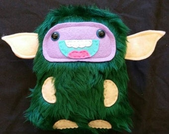 Green Gremlin Monster Plush Toy