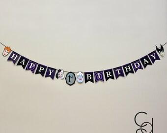 Villains Happy Birthday Banner