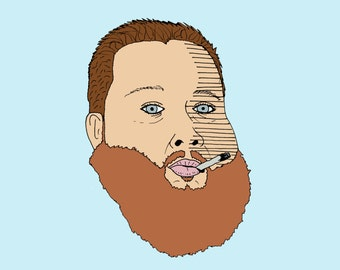 A4 Hip Hop Portraits Action Bronson,  Tyler the Creator, Earl Sweatshirt , Lord Finesse (Limited Prints 1/25)