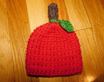 Crochet Apple Beanie Handmade