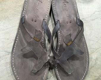 Giant Poodle Barbone Lover Gift Handmade Sandals Flip Flops Shoes