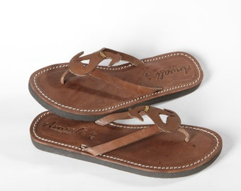 Whippet Lady Flip Flops Shoes Leather handmade