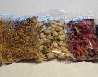Floral Herb Kit+ Bonus Herb- Herbs, Wicca, Witchcraft, Starter Herbs