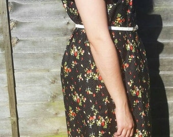 Off The Shoulder Dress - Bardot Dress - Romantic Dress - Cotton Dress - Summer Day Dress - Lightweight dress - Cotton  Sundress - Festival