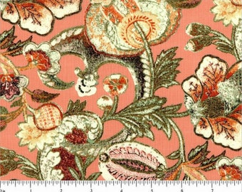 Jacobean Victoria and Albert Museum Cotton Fabric  Westminster By the Yard