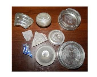 Glass Shards Antique  Vintage  Broken Glass Archaeological finds  #et 59
