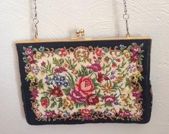 1950's Tapestry Handbag