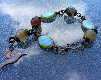 Turquoise Bird Bracelet