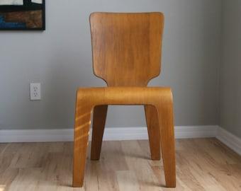 Thaden Jordan Mid Century Modern Molded Plywood Side Chair
