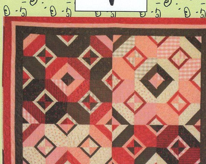 Free Usa Shipping Pieces of My Heart Quilt Craft Sewing Pattern 290 Cut Diamonds New Condition Old Store stock