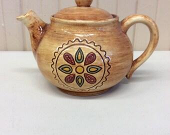 Pennsbury Pottery Hex Design Teapot