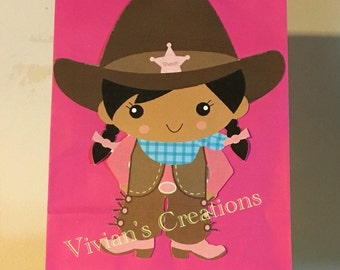 Cowgirl loot bags