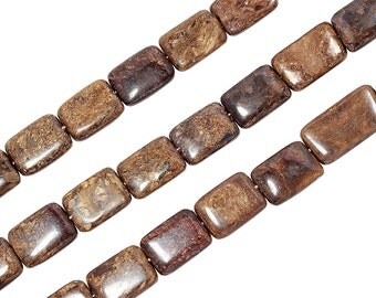 15 1/2 IN Strand 8x10 mm Bronzite Rectangle Smooth Gemstone Beads (BRZ100102)