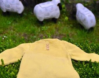 Robe bébé, BABY DRESS, Baby GIFT, Mérinos, Merino wool, Cadeau naissance, newborn gift