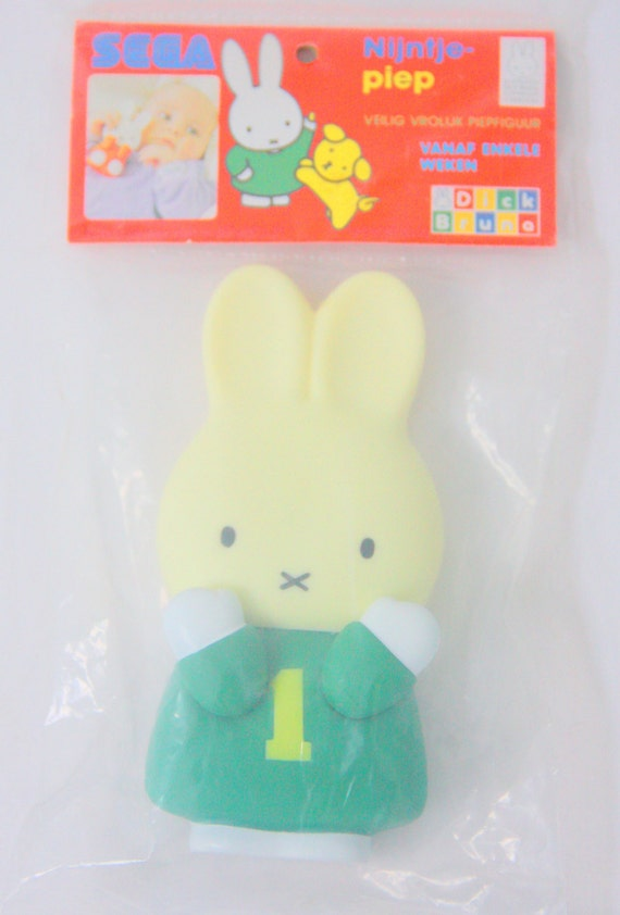 Vintage Miffy (Nijntje) Dutch Squeek Toy, Never Removed From Package, Baby Toy, Dick Bruna