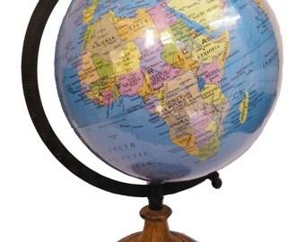 Blue Ocean multicolor With Antique Look world globe