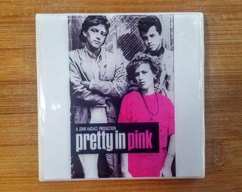 Single Tile Drink Coaster Pretty in Pink John Hughes  80s Movie Drink Coaster
