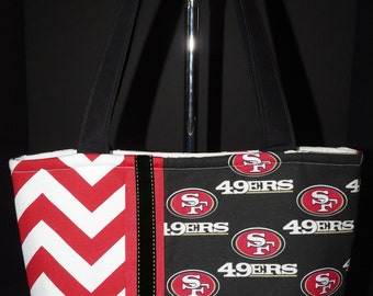 NEW Handmade San Francisco 49ers Football NFL Handbag Purse