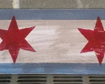 Chicago Flag Sign 5.5x25